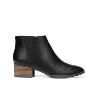 Dr. Scholl's LASSO Black Leather Ankle Bootie